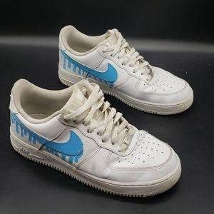 Nike Air Force one custom drip UNC Jordan